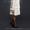Белая норковая шуба с капюшоном #1085200
