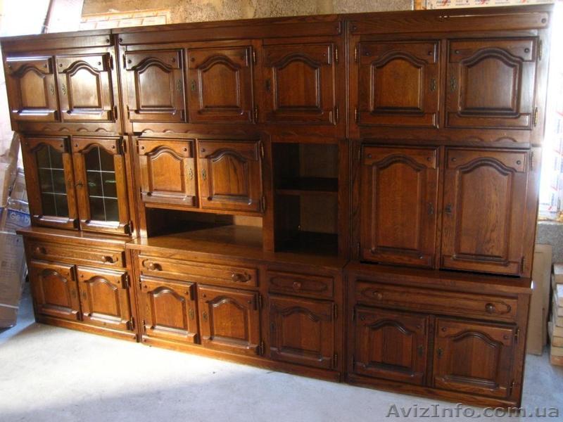 Дубовая мебель. стінка дубова (німеччина): мебель для гостин.