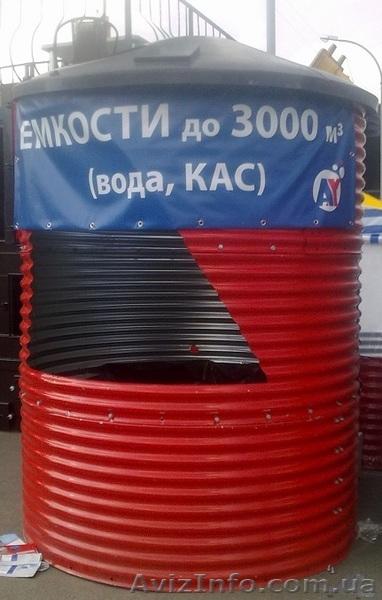 Резервуары в специальном каркасе от 18 м3,  200 м3 и более, Объявление #1401929